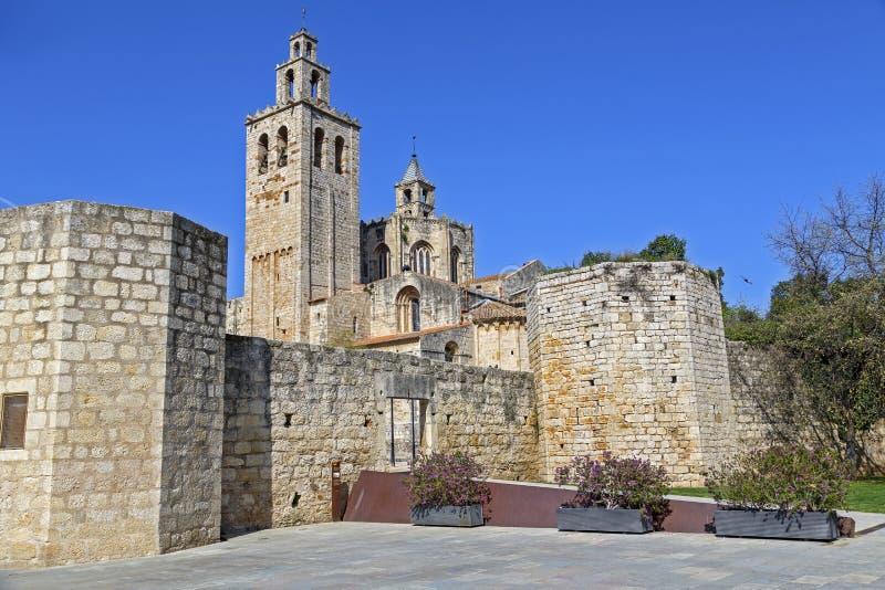 Monastère Sant Cugat del Valles.Catalonia images libres de droits