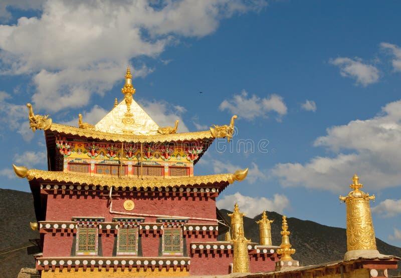 Monastère tibétain de Songzanlin, shangri-La, porcelaine image libre de droits