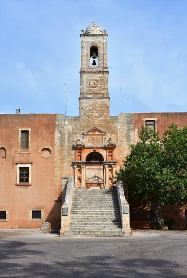 Monastério Agia Triada, Creta fotos de stock