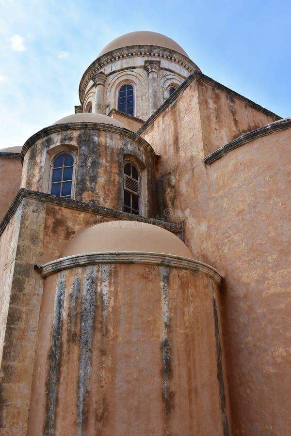 Monastério Agia Triada, Creta imagem de stock