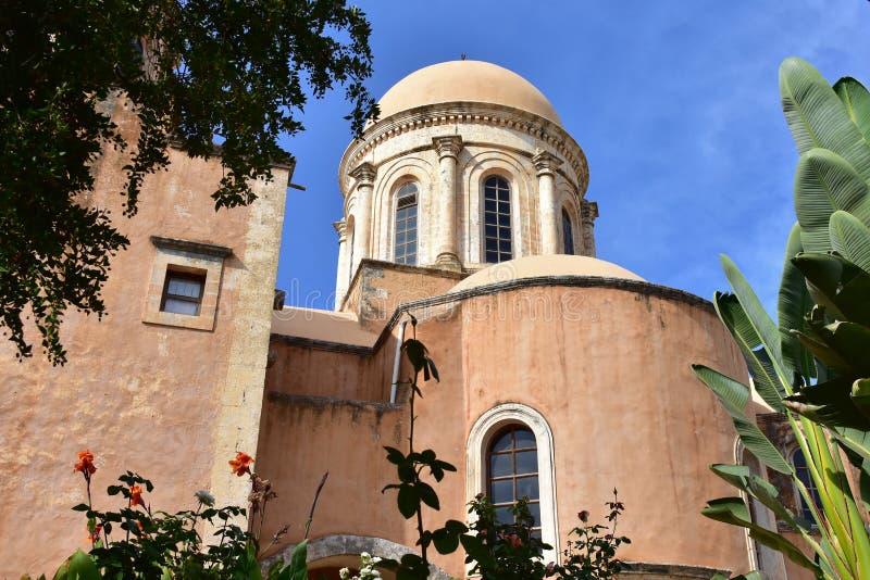 Monastério Agia Triada, Creta foto de stock