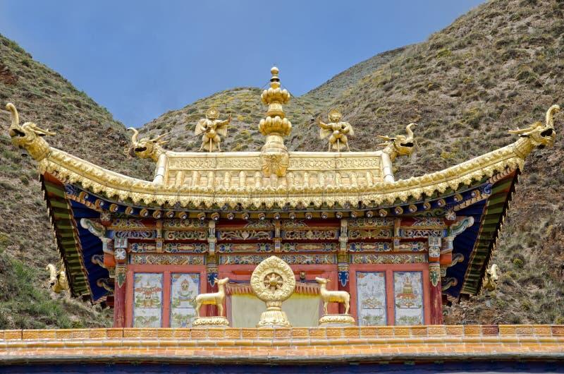 Monastério budista de Labrang imagens de stock royalty free