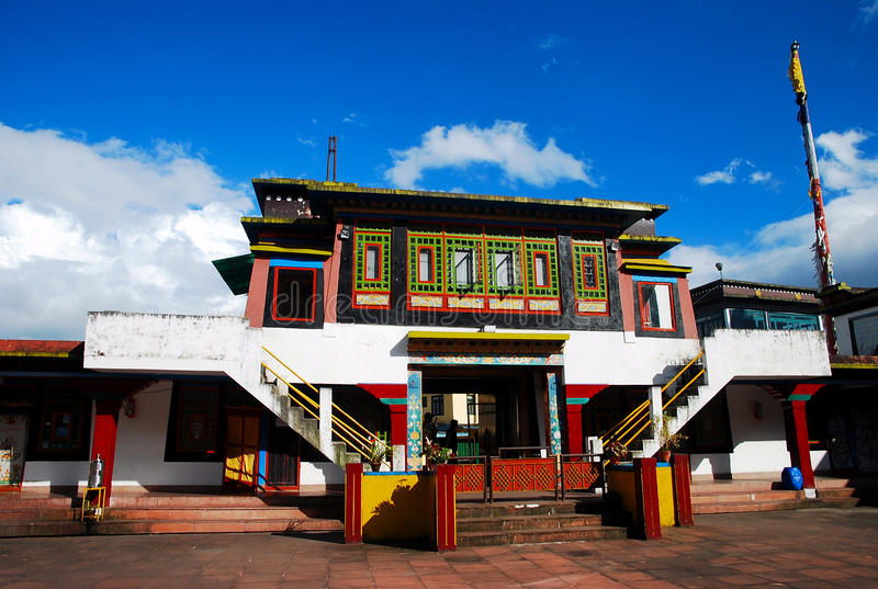 Monastério budista de Rumtek fotografia de stock royalty free