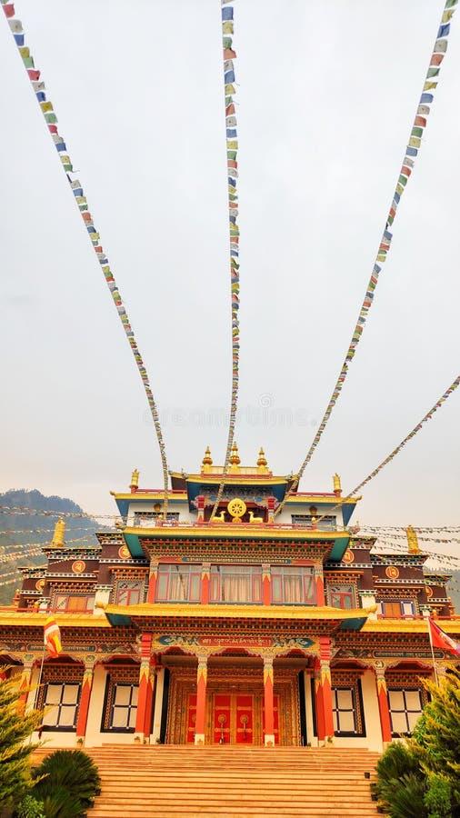 Monastério budista na Índia de Himachal Pradesh fotografia de stock
