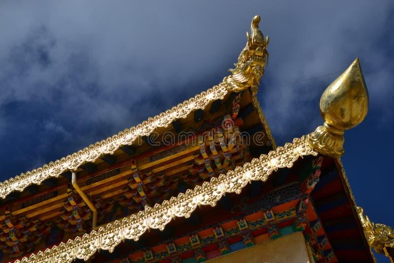 Monastério budista tibetano de Songzanlin, La de Shangri, Xianggelila, província de Yunnan, China fotos de stock royalty free