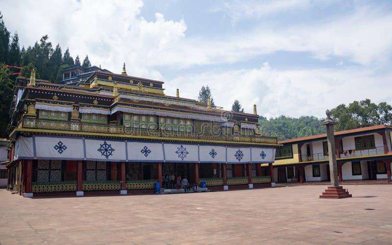 Monastério Bulding de Rumtek perto de Gangtok, Sikkim, Índia fotos de stock royalty free