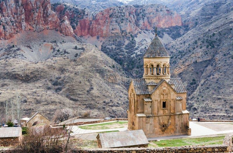 Monastério cênico de Novarank em Armênia O monastério de Noravank foi fundado em 1205 É ficado situado 122 quilômetros de Yerevan fotografia de stock royalty free