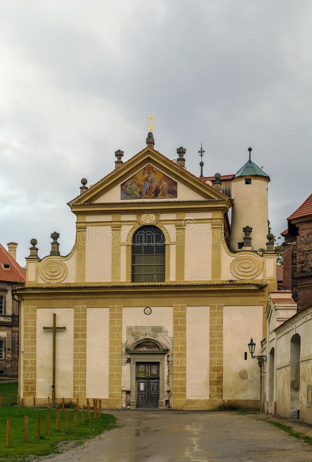 Monastério Cistercian, Plasy, república checa imagem de stock royalty free