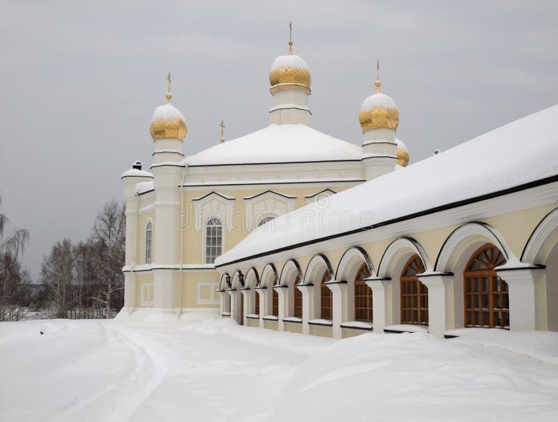 Monastério da fêmea de Novo-Tikhvin. imagens de stock royalty free