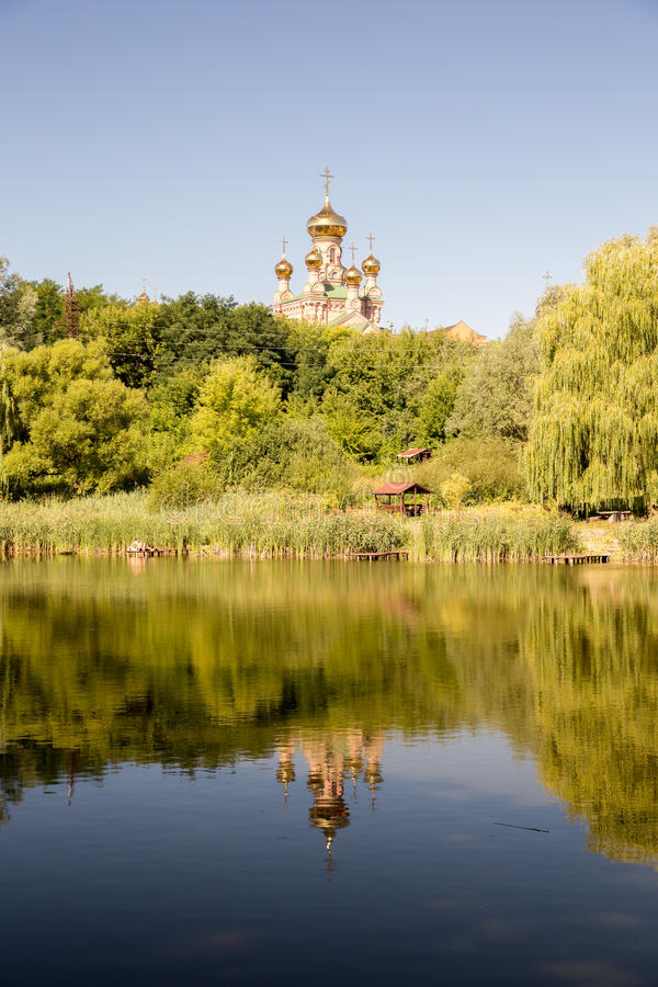 Monastério da Virgem Santa, Kiev foto de stock royalty free