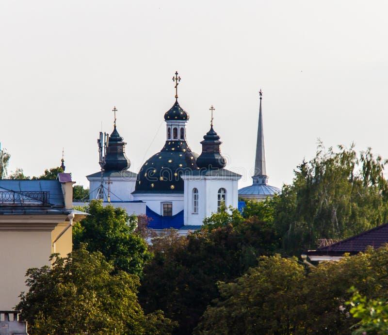Monastério da vista da natividade do Virgin em Grodno imagens de stock