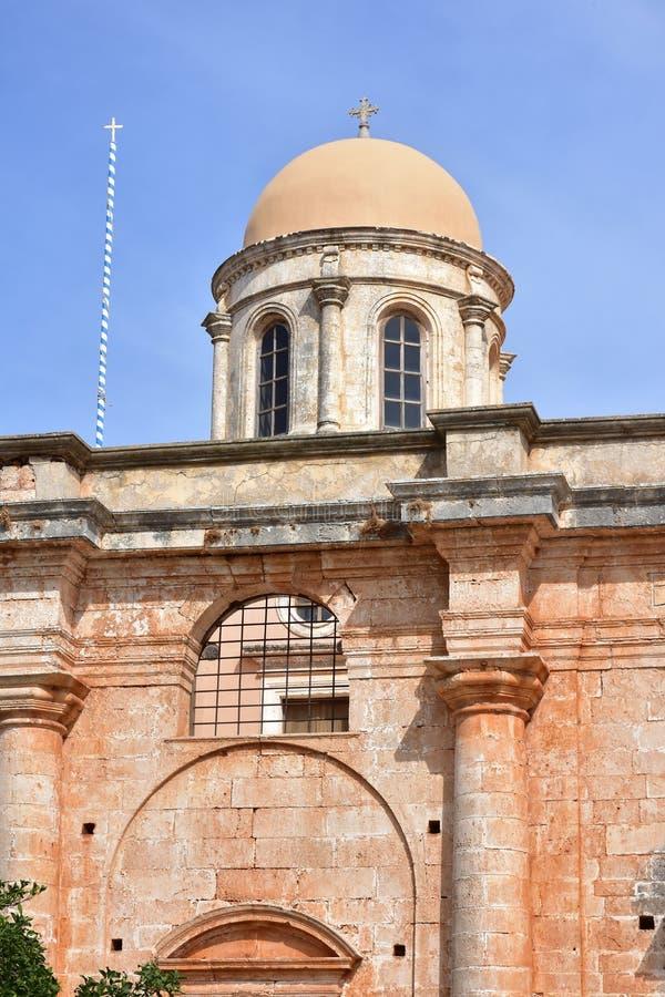 Monastério de Agia Triada da Creta da ilha fotografia de stock royalty free
