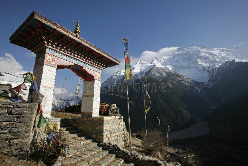 Monastério de Annapurna fotos de stock royalty free