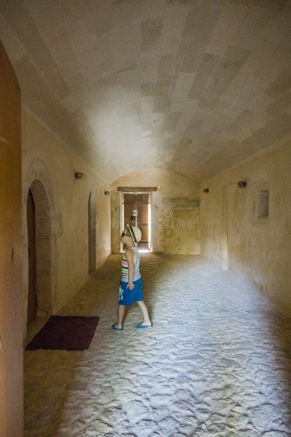 Monastério de Arkadi crete imagem de stock