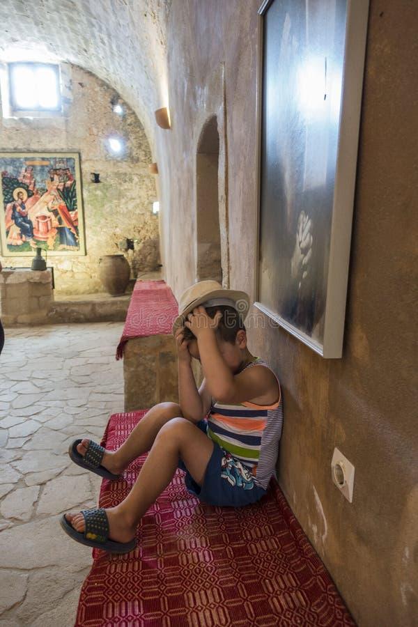 Monastério de Arkadi crete imagem de stock royalty free