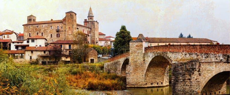 Monastério de Bormida, província de Asti, Piemonte, Itália norte imagem de stock royalty free