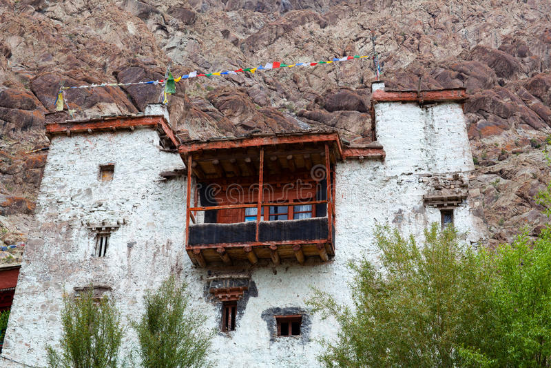 Monastério de budistas em Leh, Jammu e Caxemira, Índia fotos de stock royalty free