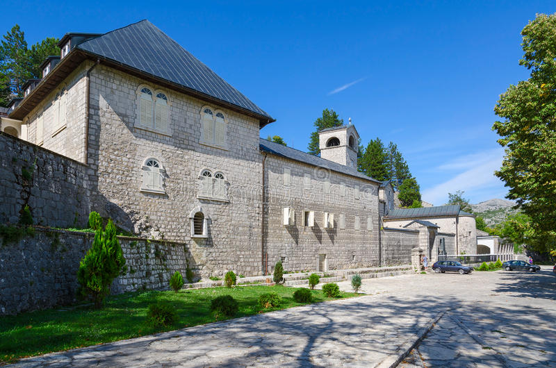 Monastério de Cetinje da natividade da Virgem Maria abençoada, Montenegro imagem de stock