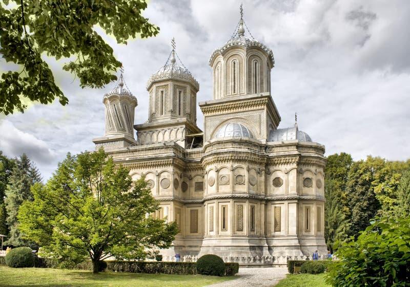 Monastério de Curtea de Arges fotografia de stock royalty free