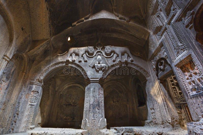 Monastério de Geghard em Armênia imagens de stock