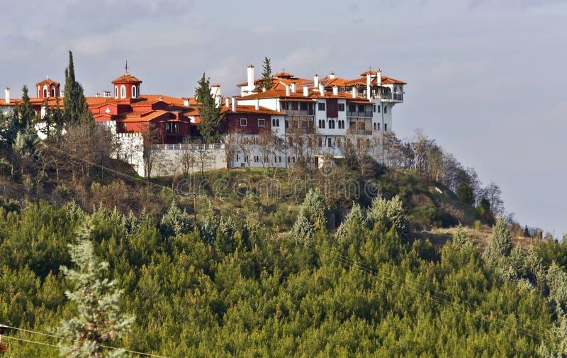 Monastério de Grigorios de Saint em Greece imagem de stock
