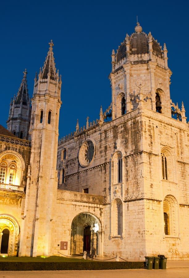 Monastério de Hieronymites em Lisboa fotos de stock royalty free