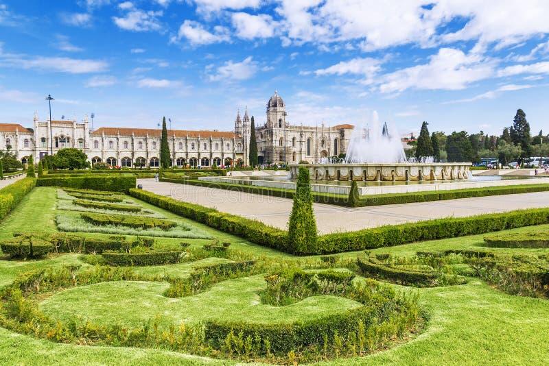 Monastério de Jeronimos em Lisboa, Portugal fotografia de stock