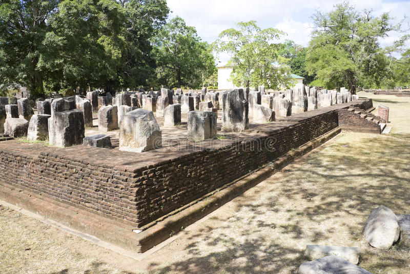 Monastério de Jetavana, Anuradhapura, Sri Lanka fotografia de stock