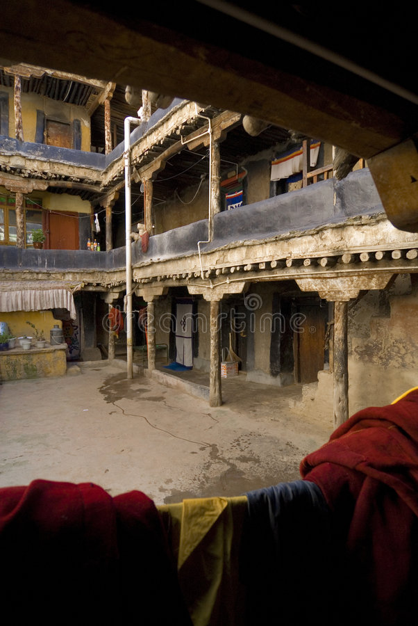 Monastério de Jhokang em Tibet fotos de stock
