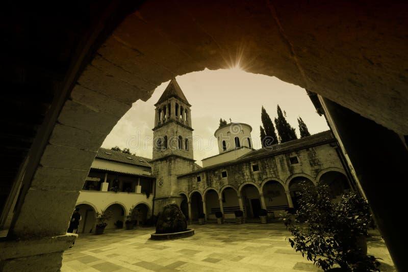 Monastério de Krka fotografia de stock royalty free