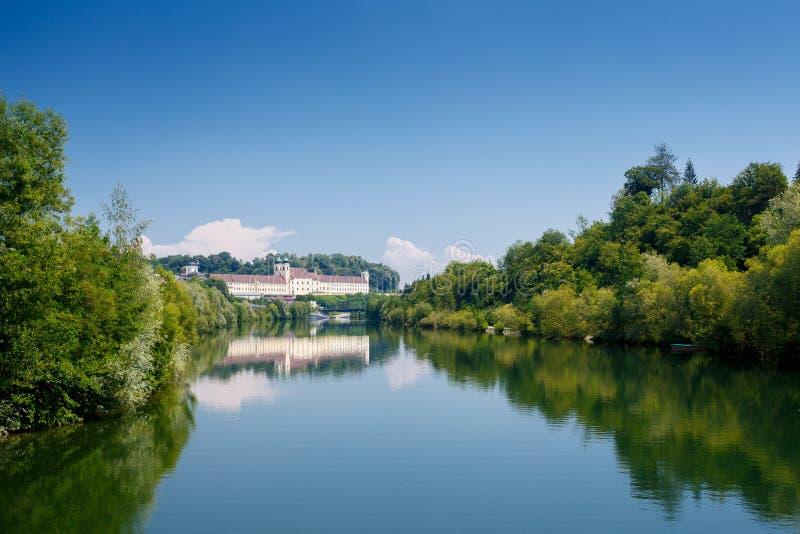 Monastério de Lambach, Áustria imagem de stock