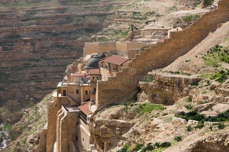 Monastério de Marsaba foto de stock