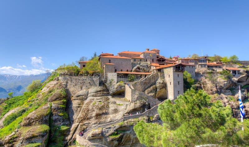 Monastério de Meteoro grande, Meteora, Greece fotografia de stock
