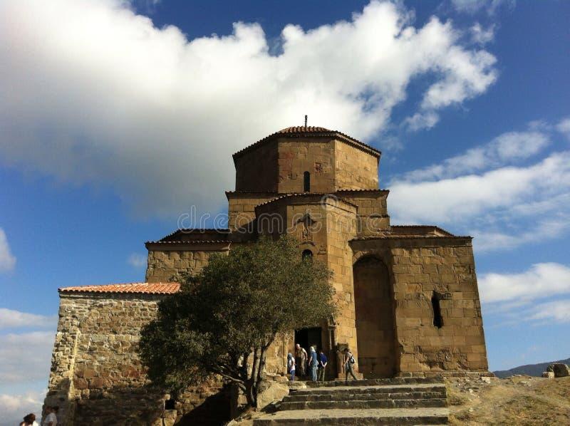 Monastério de Mtskheta Jvari imagens de stock royalty free