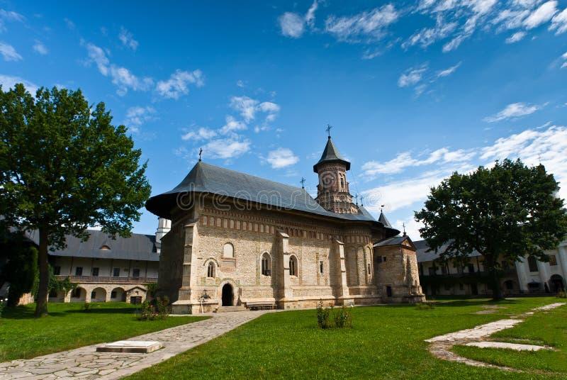 Monastério de Neamt no verão fotografia de stock royalty free