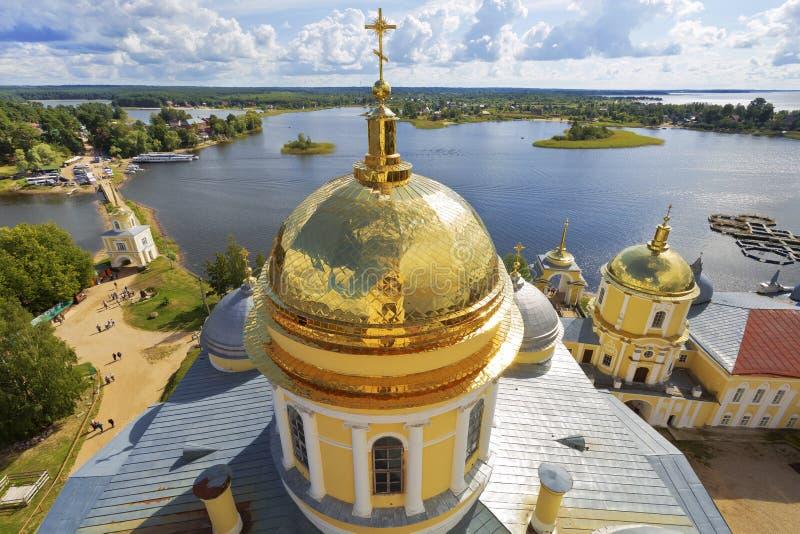 Monastério de Nilo-Stolobensk Rússia imagens de stock royalty free