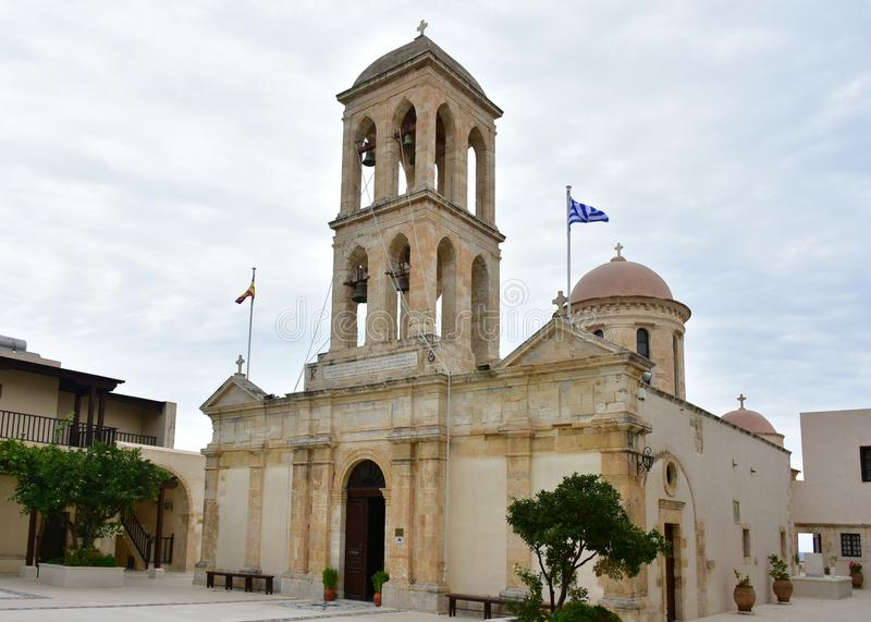 Monastério de nossa senhora de Gonia, Creta foto de stock royalty free