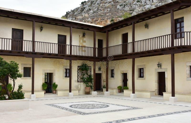 Monastério de nossa senhora de Gonia, Creta imagem de stock