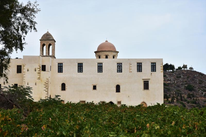 Monastério de nossa senhora de Gonia, Creta imagem de stock royalty free