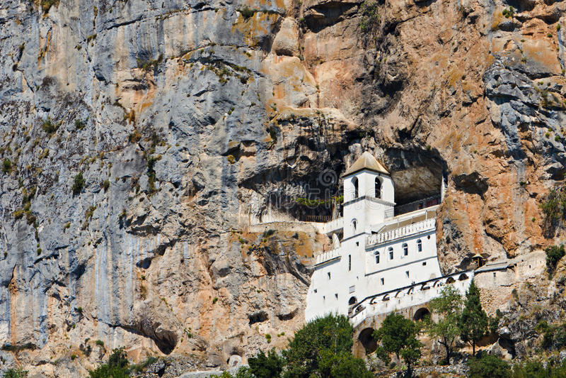 Monastério de Ostrog, Montenegro fotografia de stock royalty free