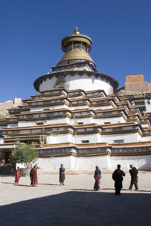 Monastério de Palkhor em Tibet imagem de stock