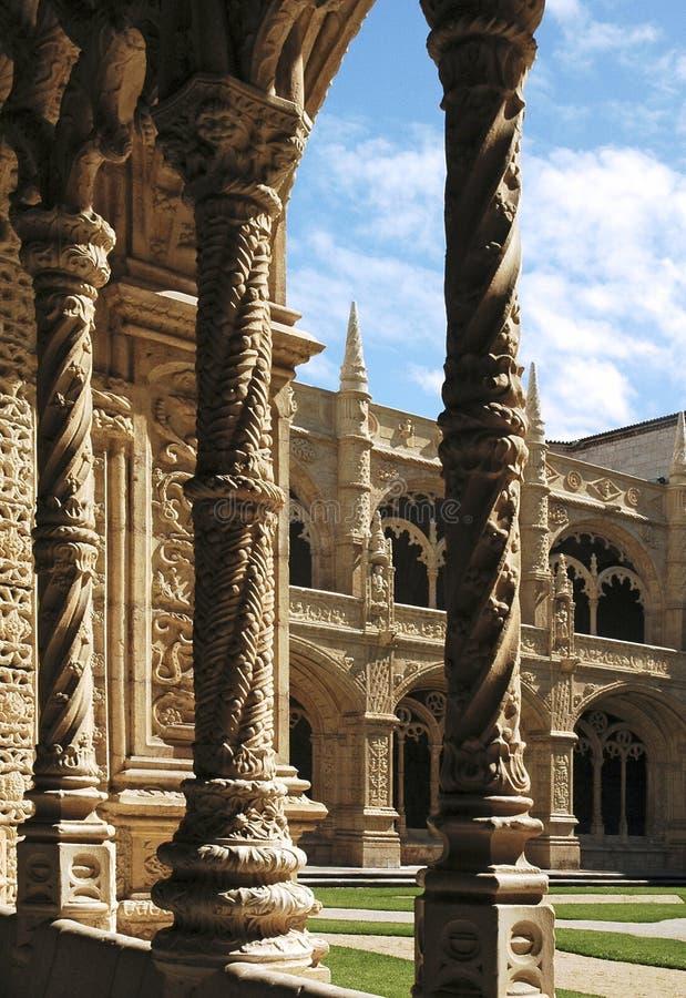Monastério de Portugal Lisboa Jeronimos foto de stock