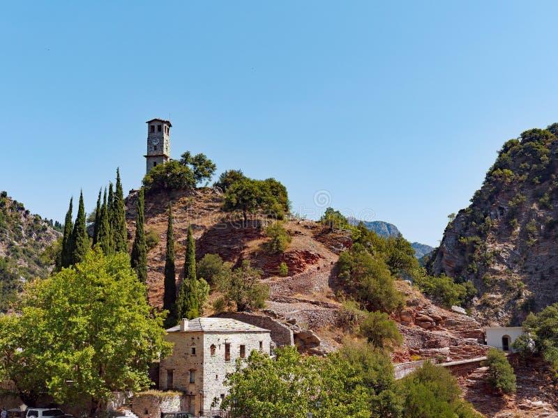 Monastério de Proussos, Karpenisi, Grécia foto de stock royalty free