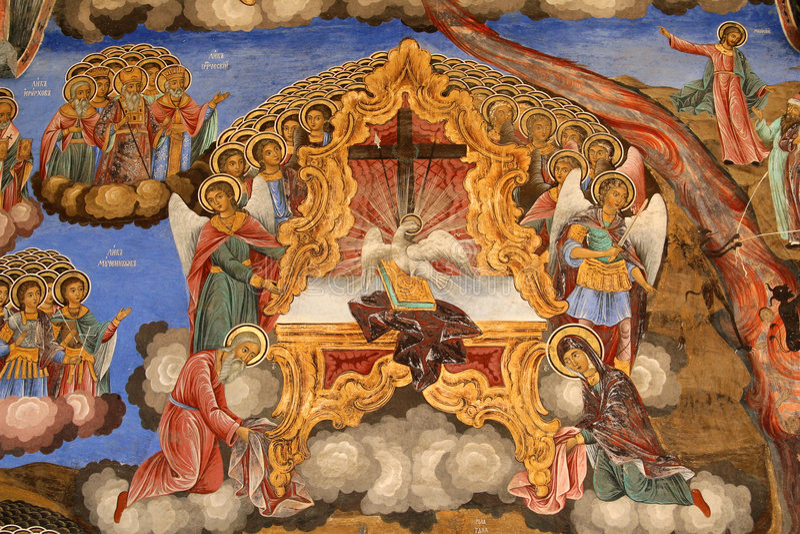 Monastério de Rila, ícone fotografia de stock royalty free