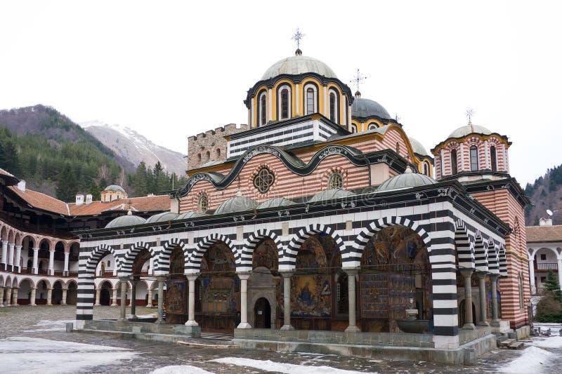 Monastério de Rila em Bulgária fotografia de stock royalty free