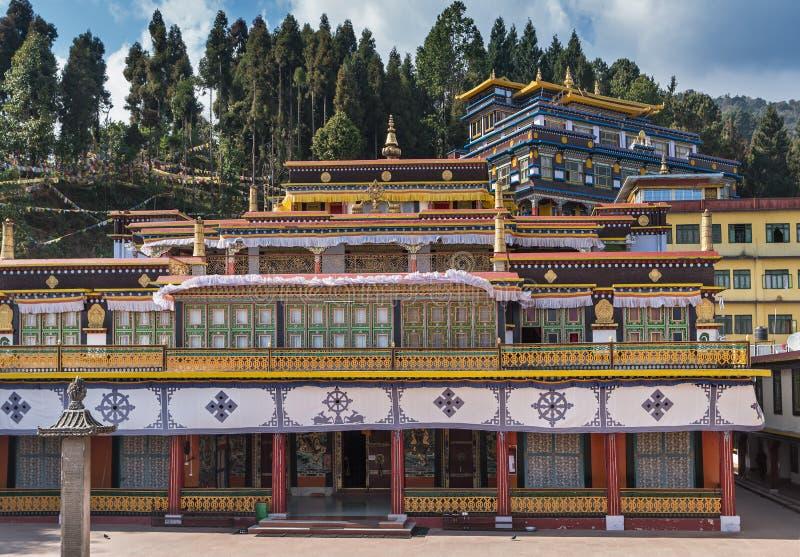 Monastério de Rumtek no estado indiano de Sikkim foto de stock royalty free