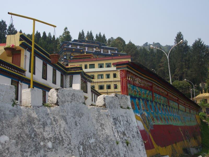 Monastério de Rumtek perto de Gangtok Sikkim, Índia, o 14 de abril 2013 fotografia de stock royalty free