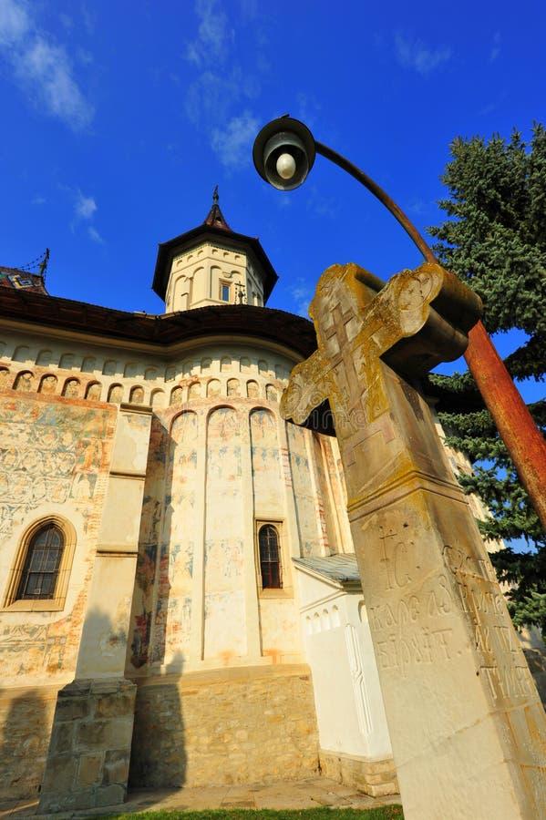 Monastério de Saint John em Suceava, Romania foto de stock royalty free