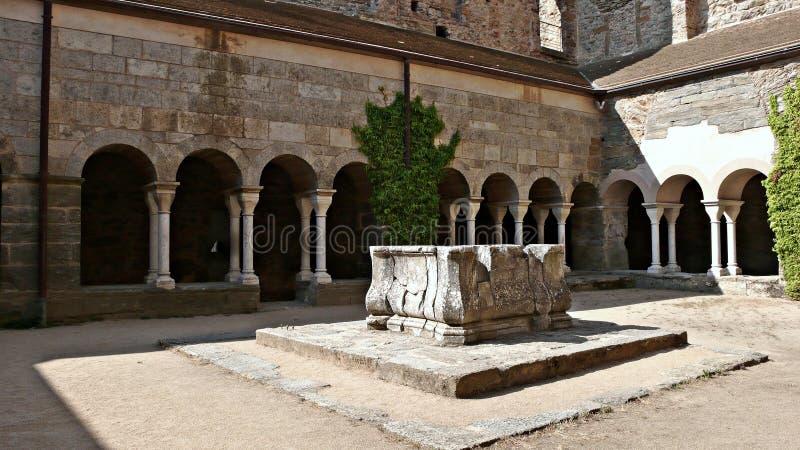 Monastério de Sant Pere de Rodes-Gerona imagem de stock