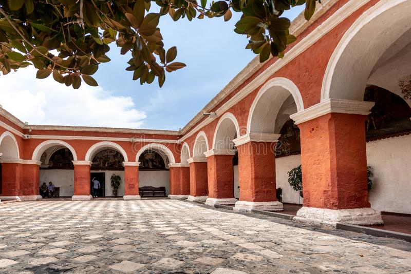 MONASTÉRIO DE SANTA CATALINA, EM AREQUIPA, PERU fotografia de stock